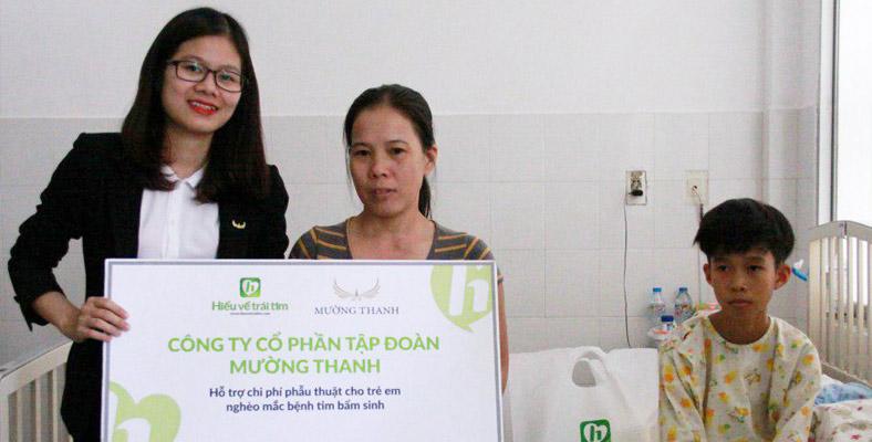 Tập đoàn Mường Thanh đã hỗ trợ phẫu thuật tim cho 6 em